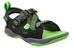 Keen Rock Iguana teenslippers Kinderen groen/zwart